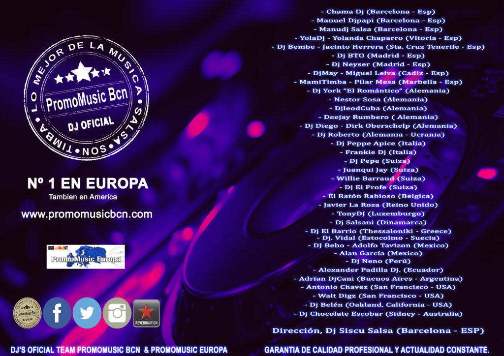 1er Team PromoMusicBcn 30 Nov. 2015